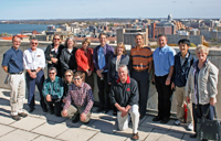 MASA tour group on the roof of the Atmospheric and Oceanic Sciences Building