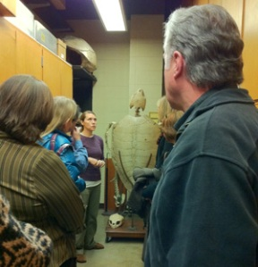 Photo: Laura A. Halverson Monahan, Curator of Collections for the University of Wisconsin-Madison Zoological Museum, leads a tour of the facility for MASA members.